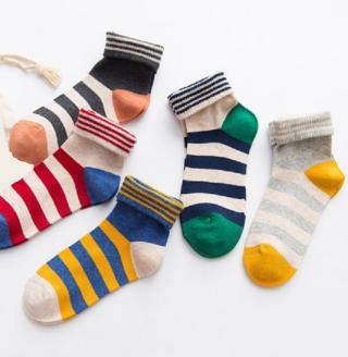 Dámské ponožky s proužky - 5 párů