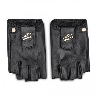 Dámské rukavice KARL LAGERFELD - 211W3601  Black/Gold 997 Černá M