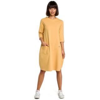 Dámské šaty BeWear B083 dámské Yellow XXL