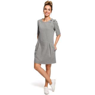 Dámské šaty Made Of Emotion Basic dámské Grey XL