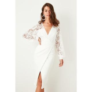 Dámské šaty Trendyol Lace Detailed dámské Ecru 38