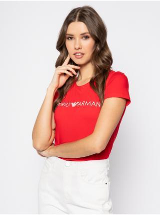Dámské tričko 163321 0P317 00074 červená - Emporio Armani dámské XS
