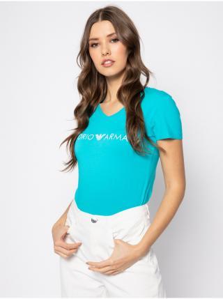 Dámské tričko 163321 0P317 00383 modrá - Emporio Armani dámské XS