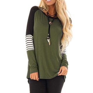Dámské tričko s dlouhým rukávem Pacrita - zelená