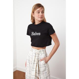 dámské tričko Trendyol Crop dámské Black M