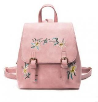 Dámský batoh s květinovým vzorem - 4 barvy Barva: růžová