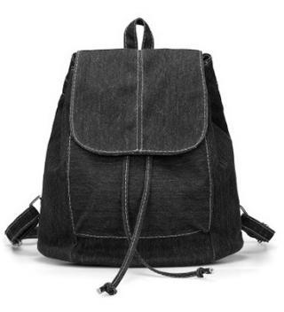 Dámský džínový batoh - 4 barvy Barva: černá