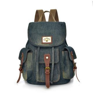 Dámský džínový batoh E933 Barva: tmavě modrá