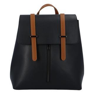 Dámský kožený batoh černo hnědý - ItalY Waterfall dámské