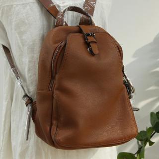 Dámský kožený batoh E922 Barva: hnědá