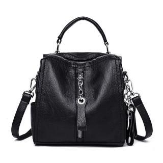 Dámský kožený batoh E925 Barva: černá