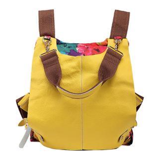 Dámský kožený batoh E926 Barva: žlutá