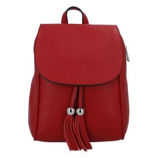 Dámský kožený batůžek tmavě červený - ItalY Joseph dámské