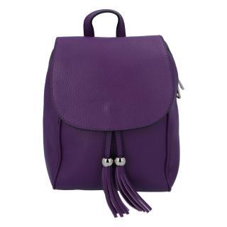 Dámský kožený batůžek tmavě fialový - ItalY Joseph dámské