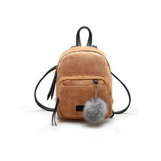 Dámský manšestrový batoh E930 Barva: světle hnědá