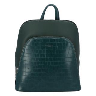 Dámský městský batoh tmavě zelený - David Jones Yordan Kroko dámské