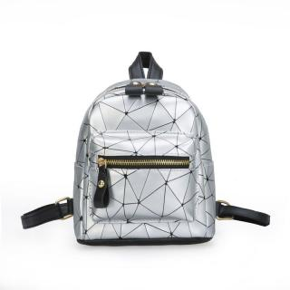 Dámský mini batoh E935 Barva: stříbrná