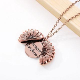 Dámský náhrdelník s otevírací slunečnicí Barva: růžová