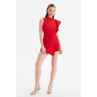 Dámský overal Trendyol Frill Detailed dámské Red 34