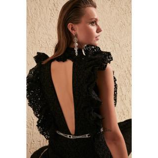 Dámský overal Trendyol Lace detailed dámské Black 34