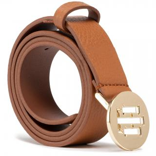 Dámský pásek TOMMY HILFIGER - Th Round 3.0 AW0AW09808 GB8 Hnědá 75