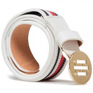 Dámský pásek TOMMY HILFIGER - Th Round Elastic Belt 3.0 AW0AW09812 0K4 Bílá 75