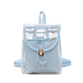 Dámský průhledný batoh E928 Barva: světle modrá