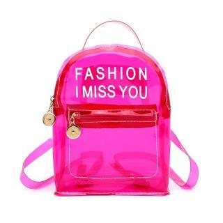 Dámský průhledný batoh E929 Barva: tmavě růžová