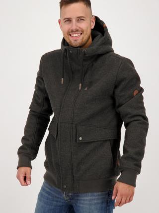 Dark grey mens winter jacket Alife and Kickin pánské tmavě šedá S