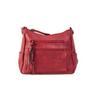 Dark red eco leather handbag dámské Neurčeno One size