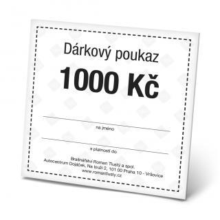 Dárkový poukaz 1000 Kč pánské Black OSFA