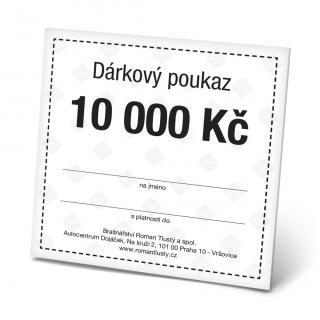 Dárkový poukaz 10000 Kč pánské Black OSFA