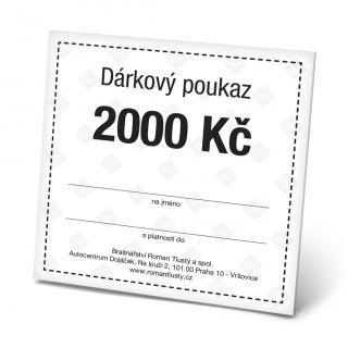 Dárkový poukaz 2000 Kč pánské Black OSFA