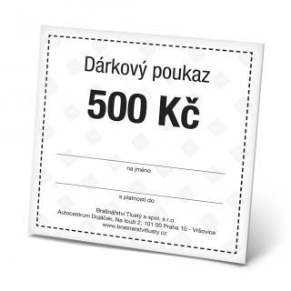 Dárkový poukaz 500 Kč pánské Black OSFA