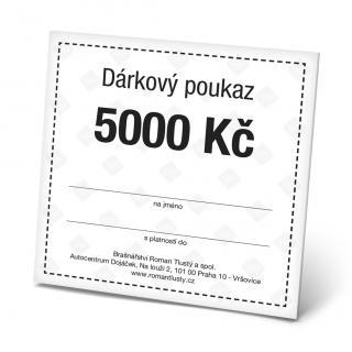 Dárkový poukaz 5000 Kč pánské Black OSFA