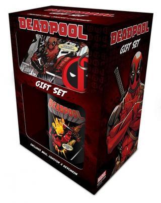 Dárkový set Deadpool, obsahuje hrnek/klíčenku/tácek