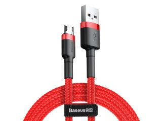 Datový kabel Baseus Cafule Cable Micro USB 2.4A, 1M, červená