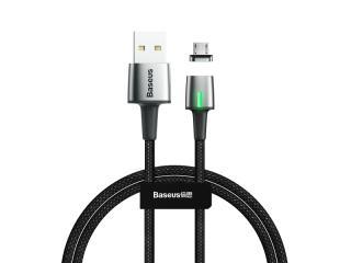 Datový kabel Baseus Zinc Magnetic Cable Micro USB, 2.4A, 1M, černá