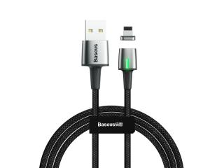 Datový kabel Baseus Zinc Magnetic Cable USB for Lightning, 1.5A, 2M, černá