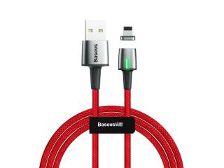 Datový kabel Baseus Zinc Magnetic Cable USB for Lightning, 1.5A, 2M, červená