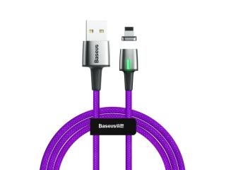 Datový kabel Baseus Zinc Magnetic Cable USB for Lightning, 1.5A, 2M, fialová