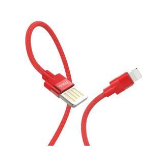 Datový kabel Hoco Outstanding Charging, Lightning, 1.2m, červená