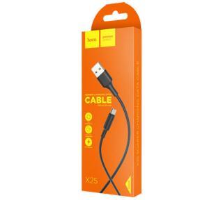 Datový kabel HOCO X25 Soarer, microUSB, 2A, 1m, černá