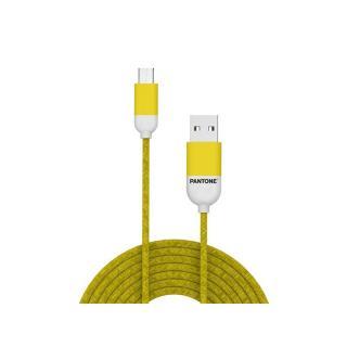 Datový kabel Pantone Micro USB kabel 1,5m, žlutá