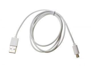 Datový kabel USB ALIGATOR microUSB nabíjecí, White