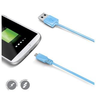 Datový USB kabel CELLY s konektorem microUSB, modrý