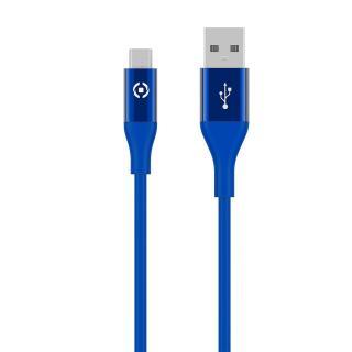 Datový USB kabel CELLY s micro USB konektorem, 1m, modrý