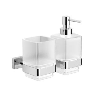 Dávkovač mýdla Swiss Aqua Technologies Simply S chrom/mléčné sklo SATDSIMS48 chrom chrom