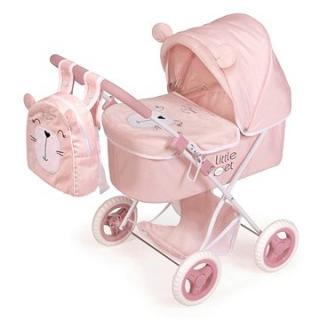 DeCuevas 85039 Skládací kočárek pro panenky s batůžkem Little Pet 2020