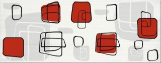 Dekor Fineza Fresh cube red 20x50 cm lesk DFRESHRE červená cube red